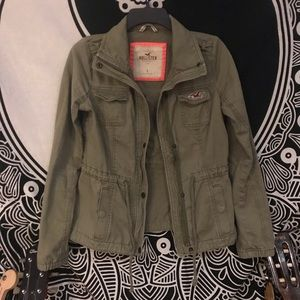 Hollister Army Green Jacket